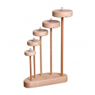 Ashford Drop Spindle Collection - incl. 5 Top Whorl Spindles (TWS5-TWS9) and Stand