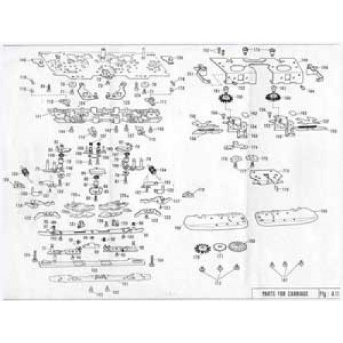 free  diagrams  parts list  kh 860  brother knitting