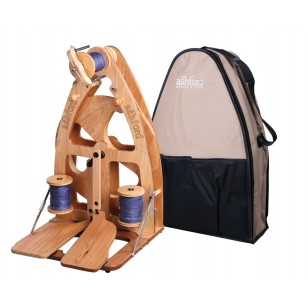 Ashford Joy Double Treadle Spinning Wheel 2 and Carry Bag