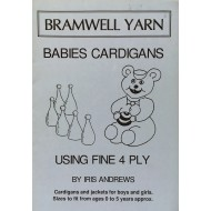 Bramwell Yarn - Babies Cardigans - Using Fine 4Ply - Cardigans and jackets for boys and girls.
