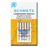 SCHMETZ Embroidery 90/14 5 Needles/Package
