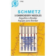 SCHMETZ Embroidery ASSORTED 75/11x3 needles, 90/14x2 needles