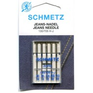 SCHMETZ Jeans/Denim ASSORTED 90/14x2 needles, 100/16x2 needles, 110/18x1 needle