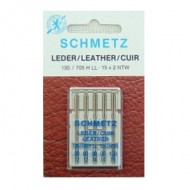 CHMETZ LEATHER NDL., ASST. 80-100, 5/PK