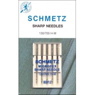 SCHMETZ Microtex 80/12 5 Needles/Package