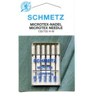 SCHMETZ Microtex ASSORTED 60/8x2 needles, 70/10x2 needles, 80/12x1 needle