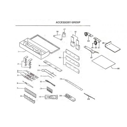 parts diagram  sk160  parts list  free  download  the yarn guy